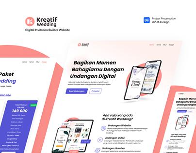 UI/UX Design Kreatif Wedding Web