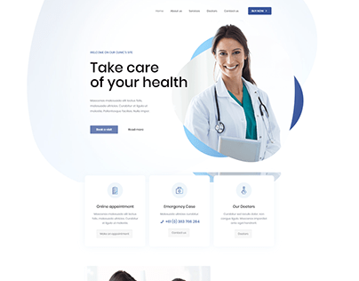 I will design a modern health or medical website