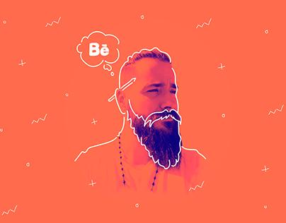 Thinking Behance (Duotone)