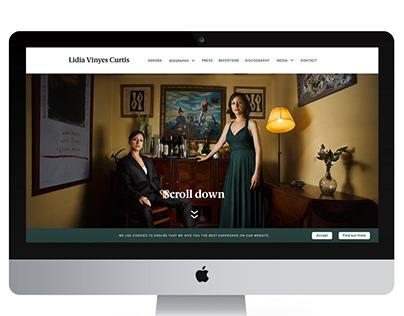 Design and web development of a Mezzo-soprano singer