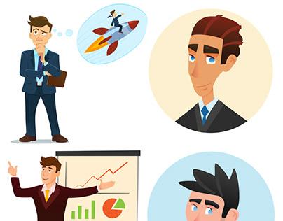 Vector illustrations - Businessman