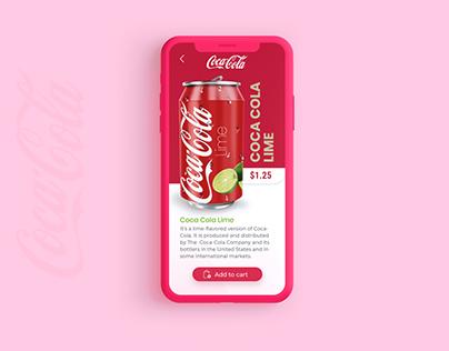 Coca Cola UX/UI concept
