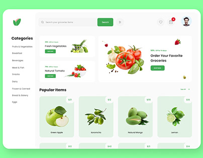 Grocery Web UI UX Design