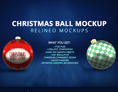Premium Christmas Decoration Mock-up Pack