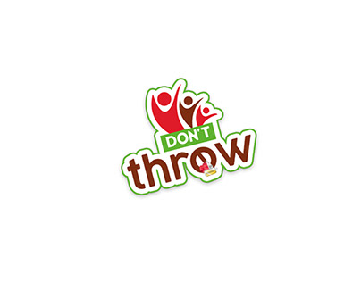 Logo Dont Throw Charity