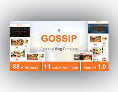 GOSSIP - Personal Blog Template