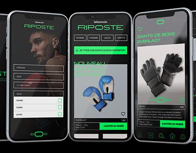 RIPOSTE - UX/UI