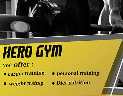 Hero gym flayer