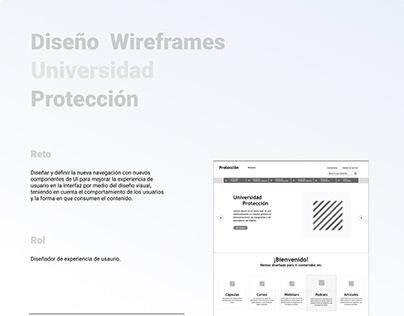 Rediseño Universidad Protección