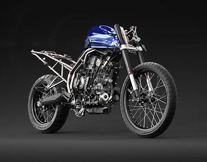 Triumph Tiger XC Build Up CGI