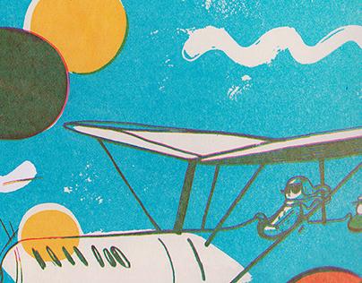 """Aviators""/ Screenprinting"