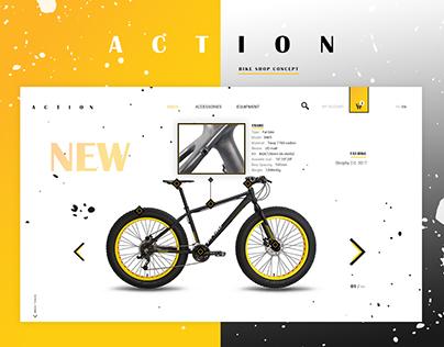 A C T I O N - bike shop concept