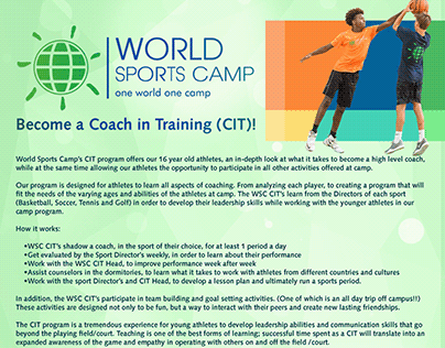World Sports Camp Internship