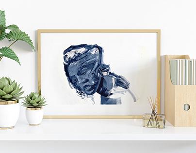 Self restriction- Acrylics portrait