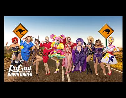 RuPaul's Drag Race Down Under—Key Art Retouch
