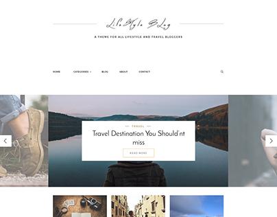 Lifestyle Blog Webdesign - Free PSD / Speed Art