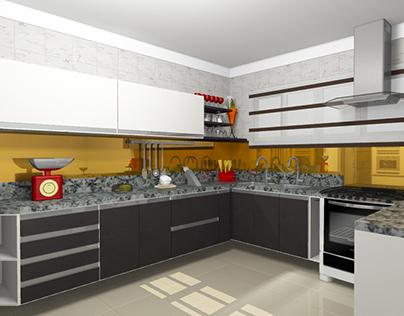 """Kitchen - Cozinha Cliente """"U"""""""