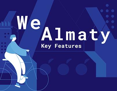 WeAlmaty — Key features