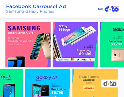 Facebook Carrousel Ad - Samsung Galaxy Phones