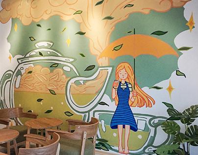 Lecha 樂茶 Mural Painting