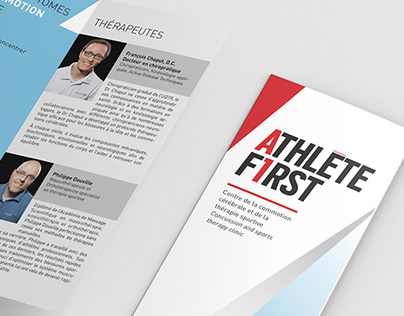 DESIGN GRAPHIQUE Athlete First dépliant