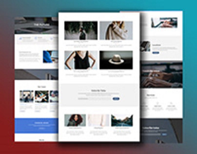 Flotsam landing pages Design