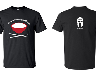 UNCG HSA & ASA (Tshirt Design)