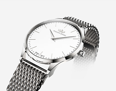3D Renderings of Philippe Banks Slimline Watch