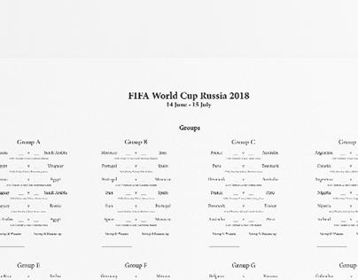 FIFA World Cup Russia 2018 Wallchart