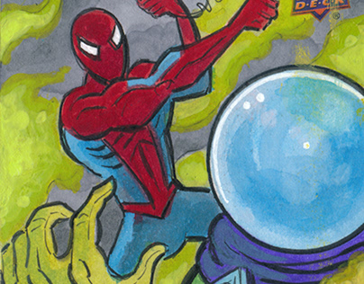 Upper Deck Spiderman Far From Home sketch cards