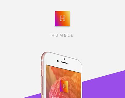 Humble - Free Sign Up PSD Mockup