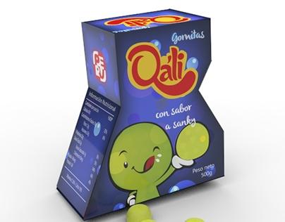 Gomitas Qáli - Identidad packaging