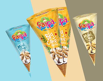Faifa Icecream | Cone Package Desing