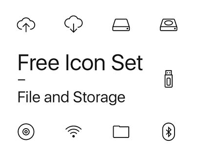Free Icon Set - File and Storage