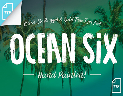 OCEAN SIX - FREE BRUSH FONT
