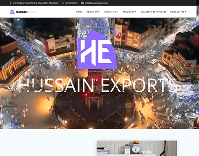 Company: Hussain Exports Website Screen Shots