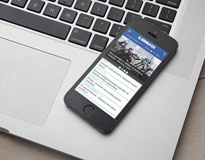 Newspaper Mobile Website