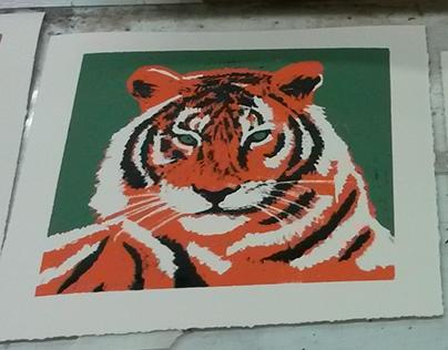 """""""Prey"""" Crayon Reduction Silkscreen"""