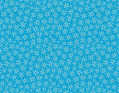 Coastal Flowers Repeat Pattern