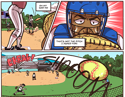 Strike Out- comic pages
