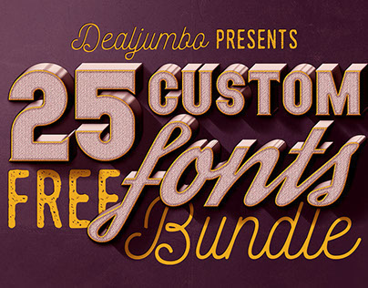 Dealjumbo Free Bundle vol.1 – 25 Custom Fonts!