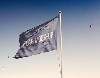 Photorealistic Flag Mockup PSD