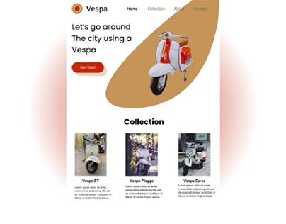 UI Design Website Vespa