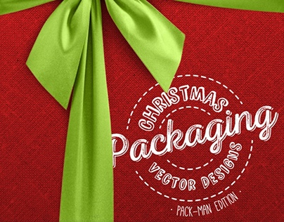 Christmas Packaging Vector Designs (Pack-Man Edition)