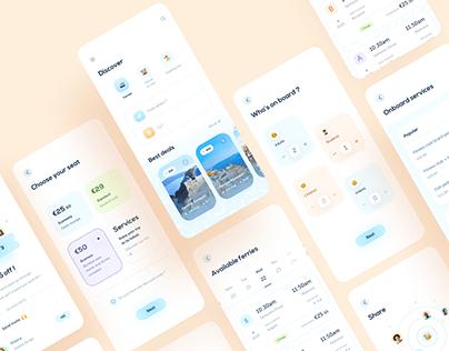 Hopstr — Identity & Travel mobile app design