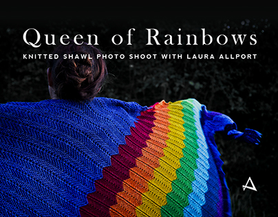 Queen of Rainbows - Knitted Shawl Photography
