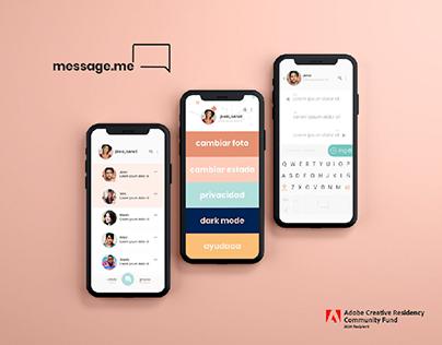 MessageMe App   Adobe Residency Community Fund Project