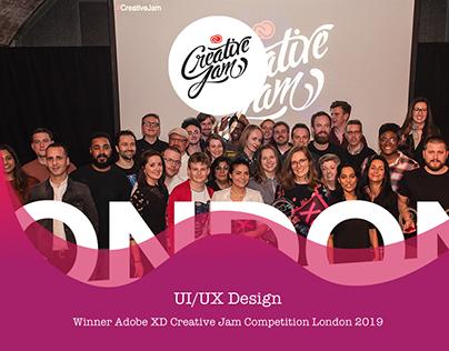 WINNER Adobe XD Creative Jam Competition London 2019