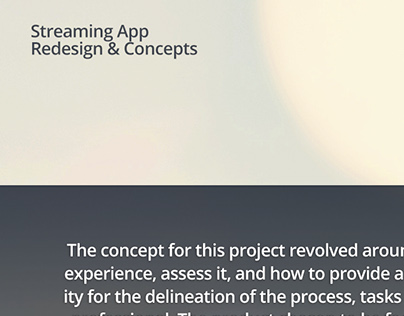 Streaming App Redesign & Concepts