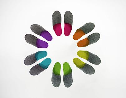 LULU - Felt Slippers